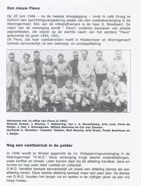 Krantenbericht oprichting 'Flevo'