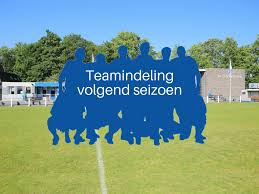 Nieuwe teamindeling seizoen 2020/2021